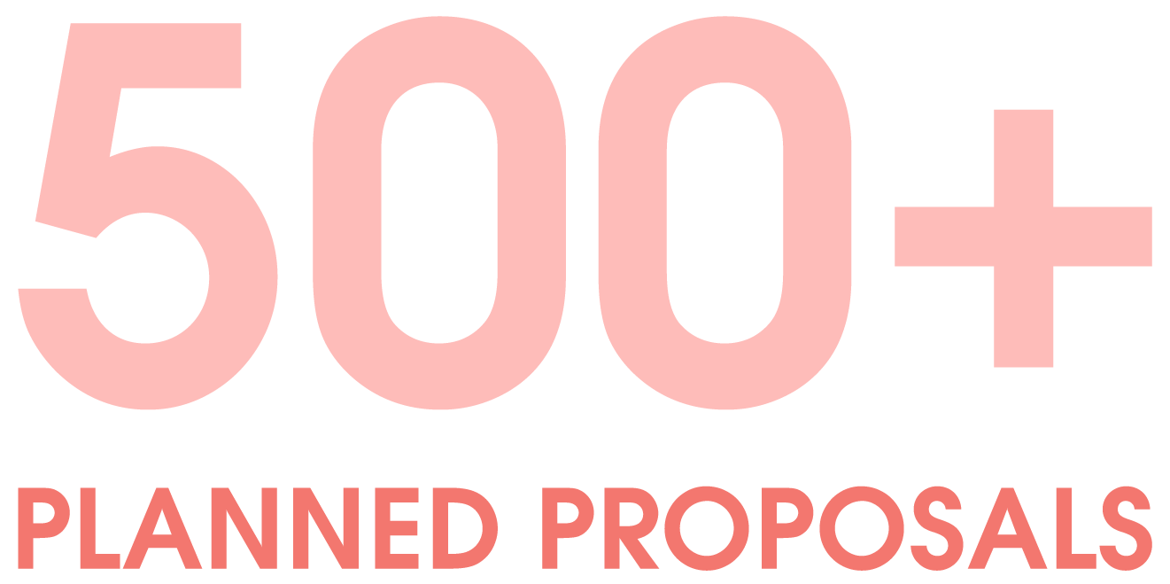 500+ Planned Proposals