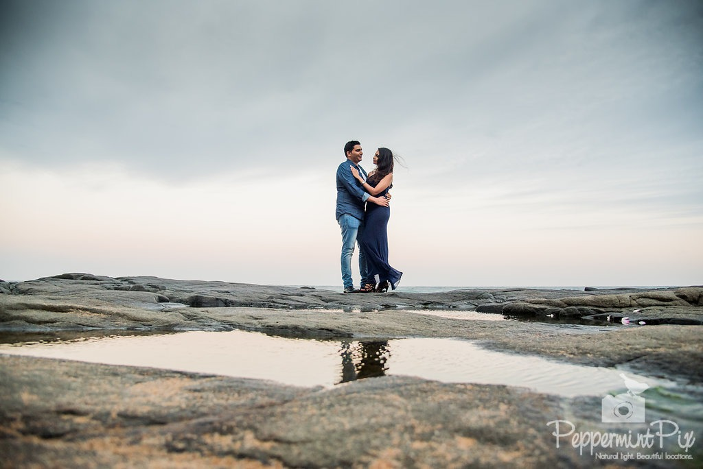 Mitesh and Serena beach proposal in Ballito