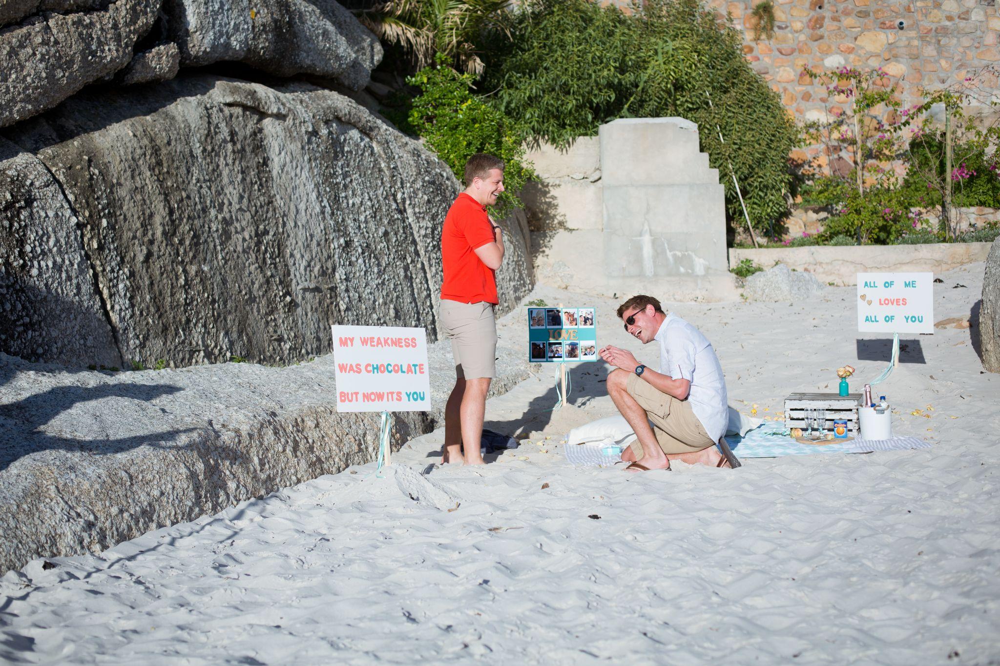 Chris and Ryan beach proposal