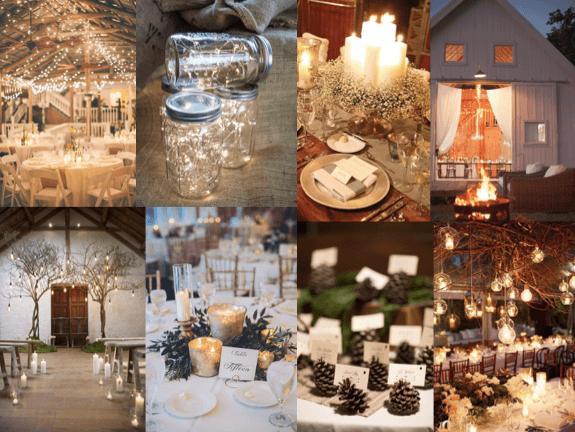 Winter wedding light ideas