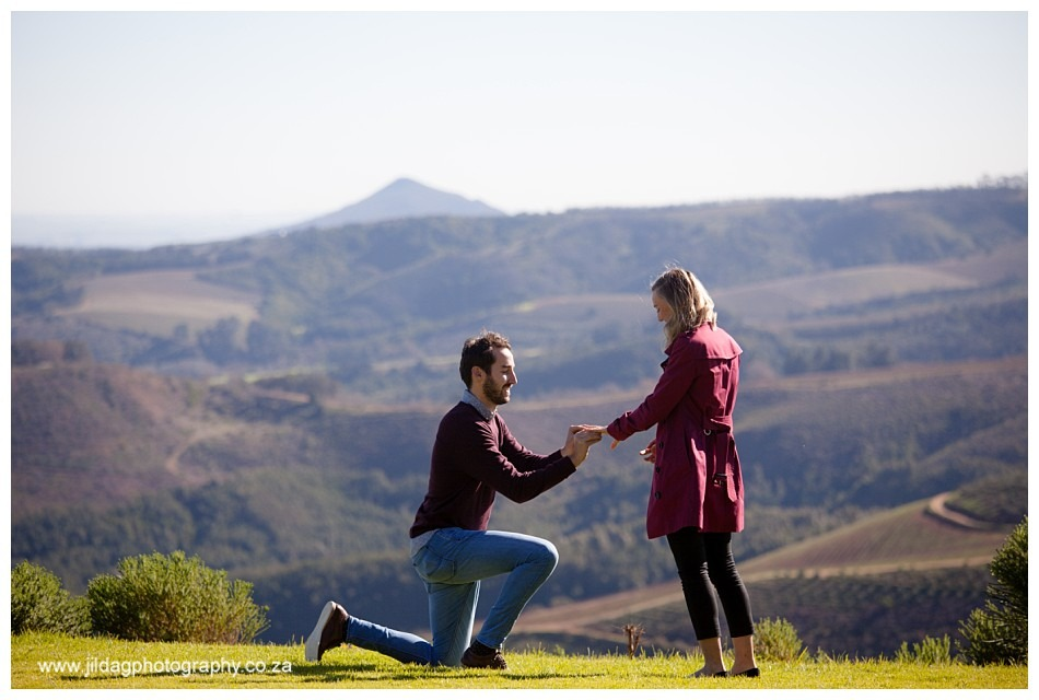 Joey and Alice Marriage Proposal at Delaire Graff