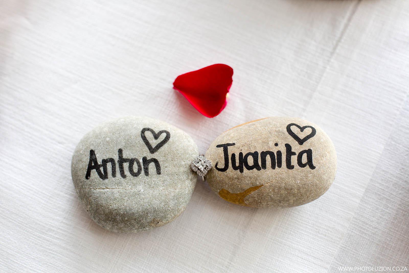 Anton and Juanita marriage proposal at Tinswalo