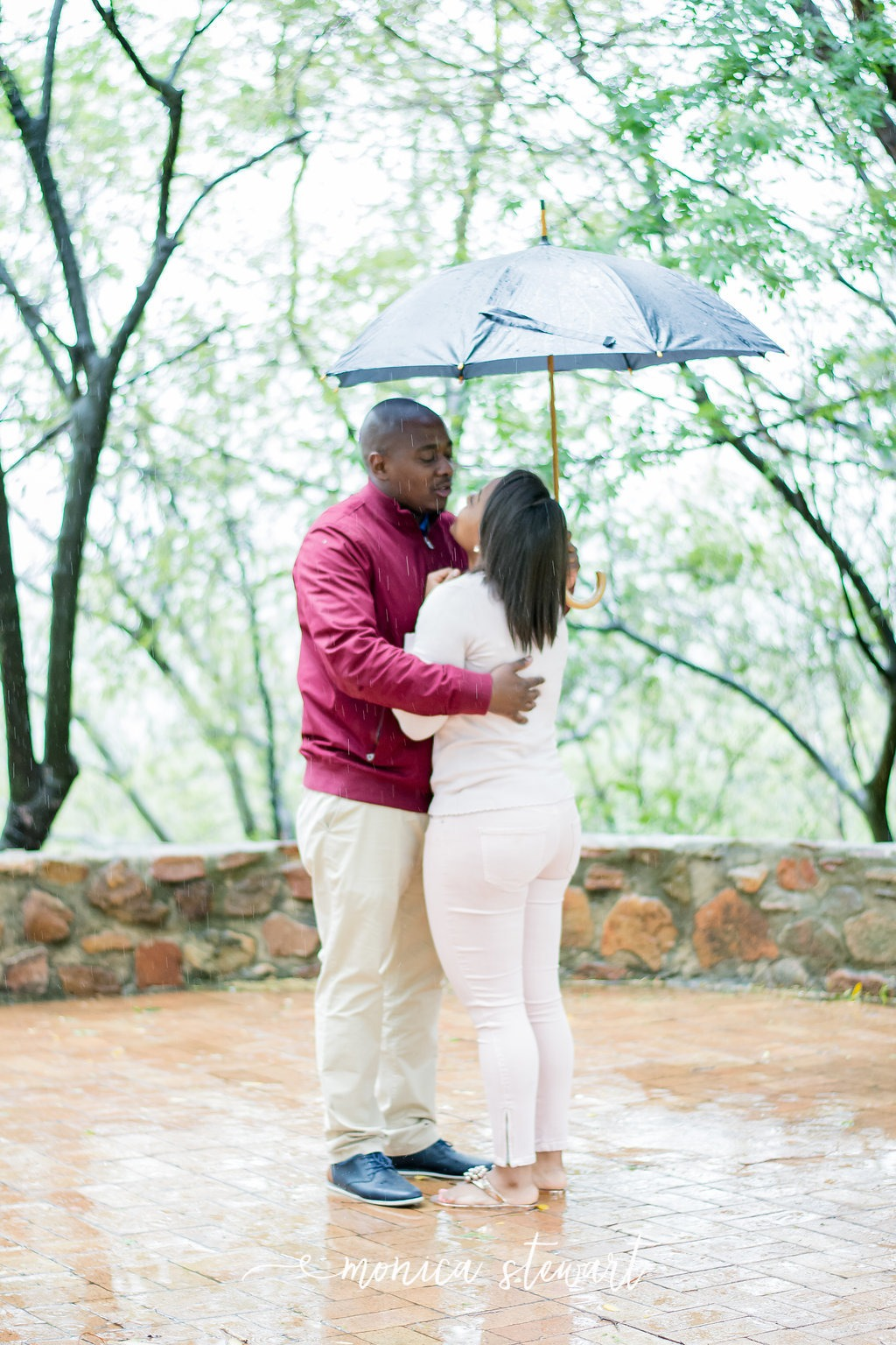 Andrew and Molebogeng proposal at Mount Grace
