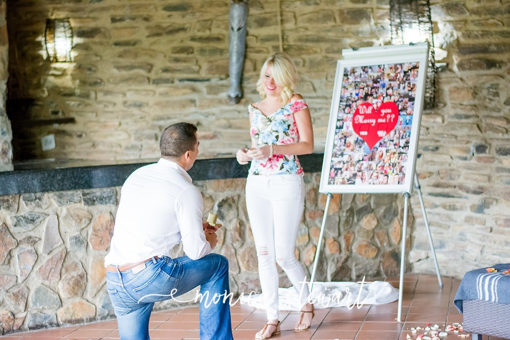 Cal and Robyn proposal at Valley Lodge