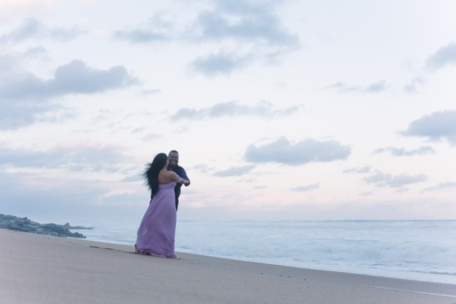 Nitesh and Sunaina beachside dinner proposal