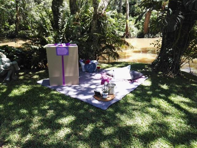 Greg and Inga garden marriage proposal