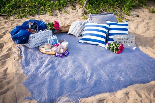 JJ and Elanie Beach Picnic Proposal