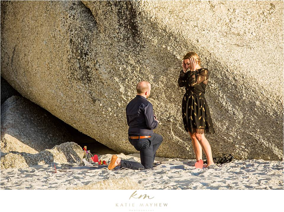 Adrian & Lindsay beach marriage proposal