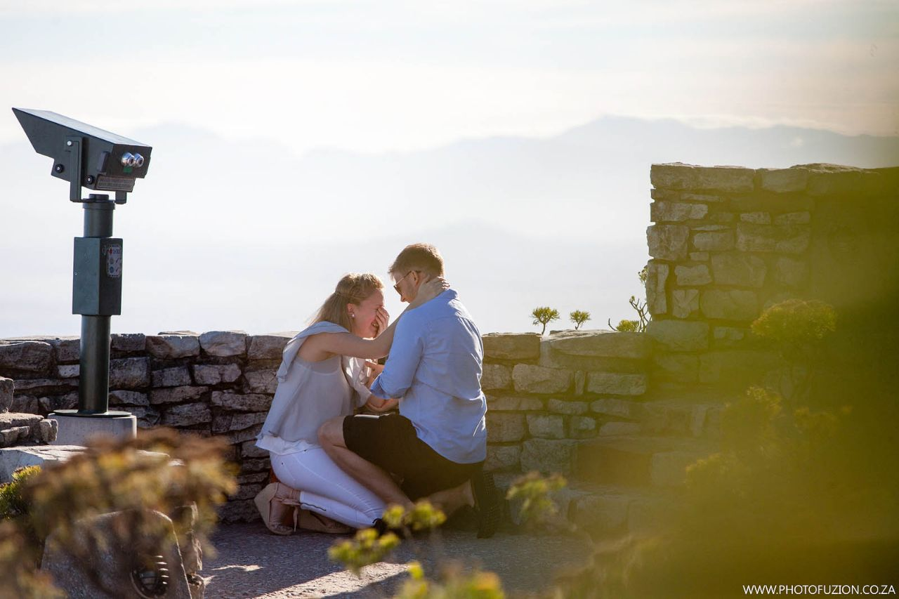Russell and Hannah Proposal on Table Mountain