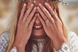 Bohemian style bride