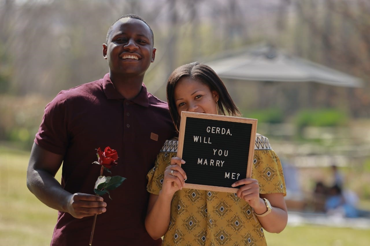 Jose and Gerdas picnic proposal in Johannesburg