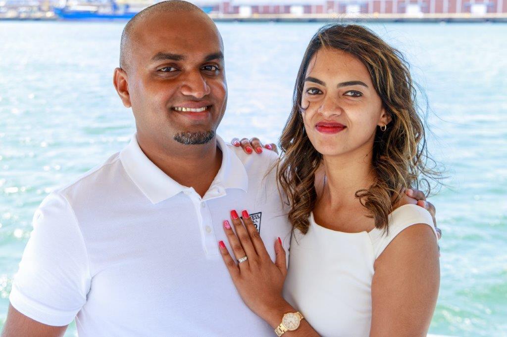 Durban yacht Marriage Proposal