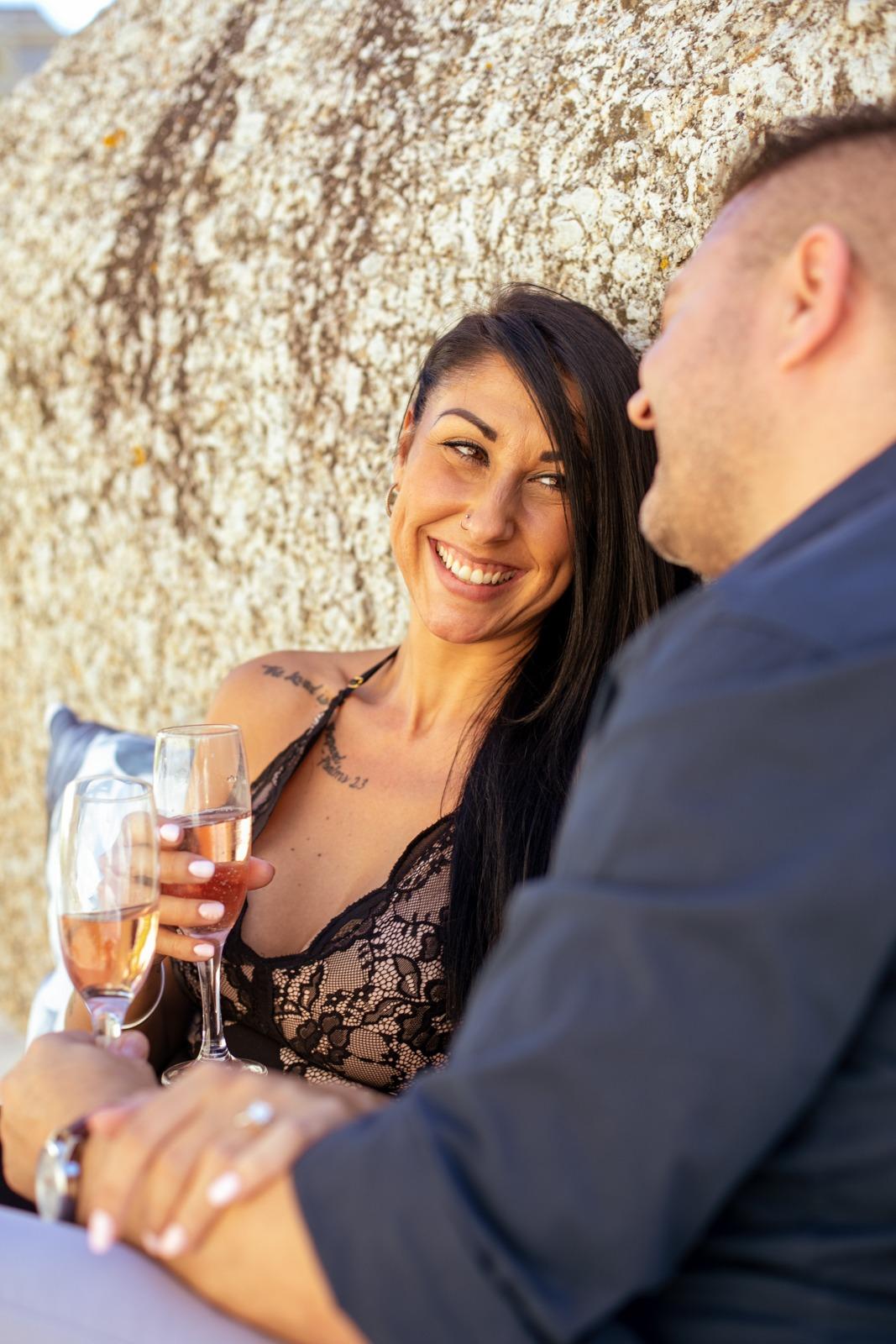 Sergio and Claudia Greek beach proposal