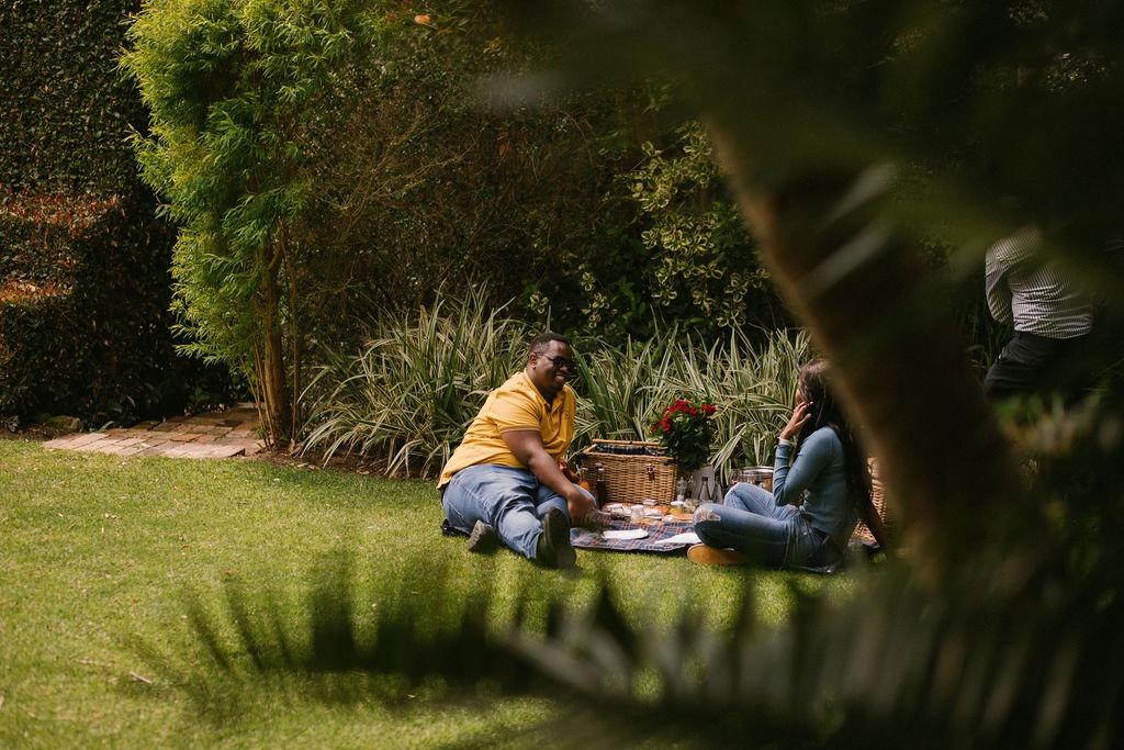 garden picnic proposal