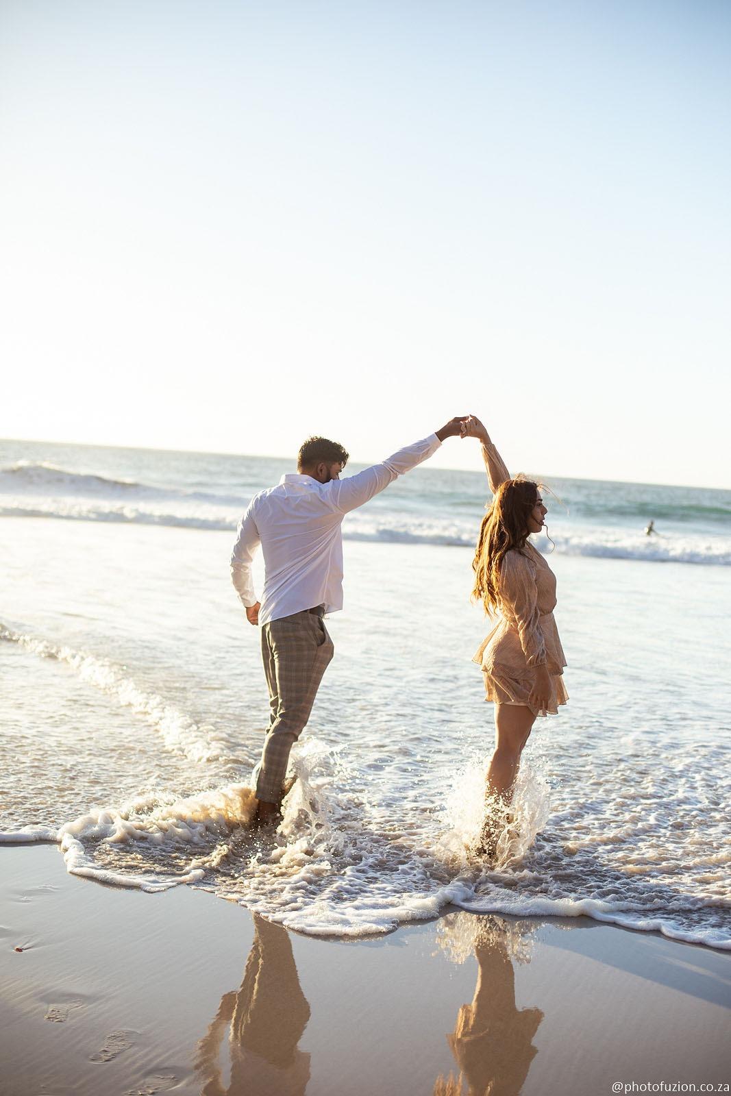 Lloyd and Zainab beach proposal