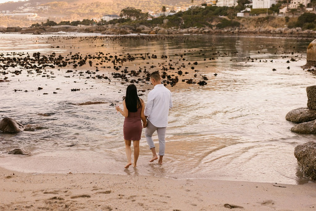 Jacques and Tamerin sunrise proposal