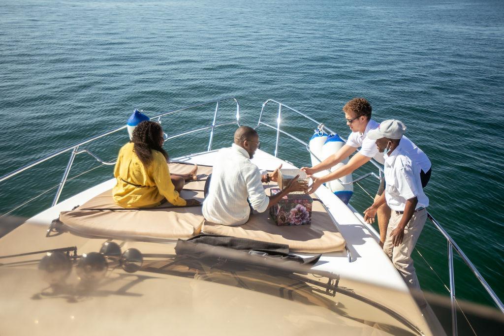 A perfect yacht proposal