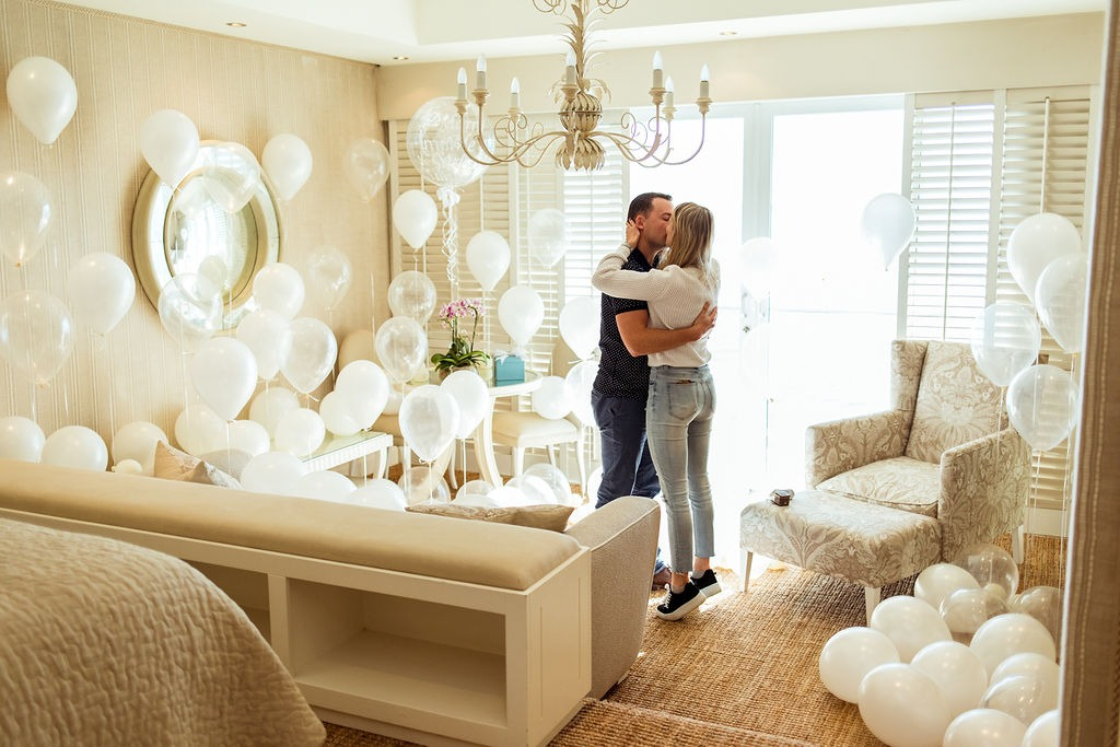 Carla and Shane balloon proposal