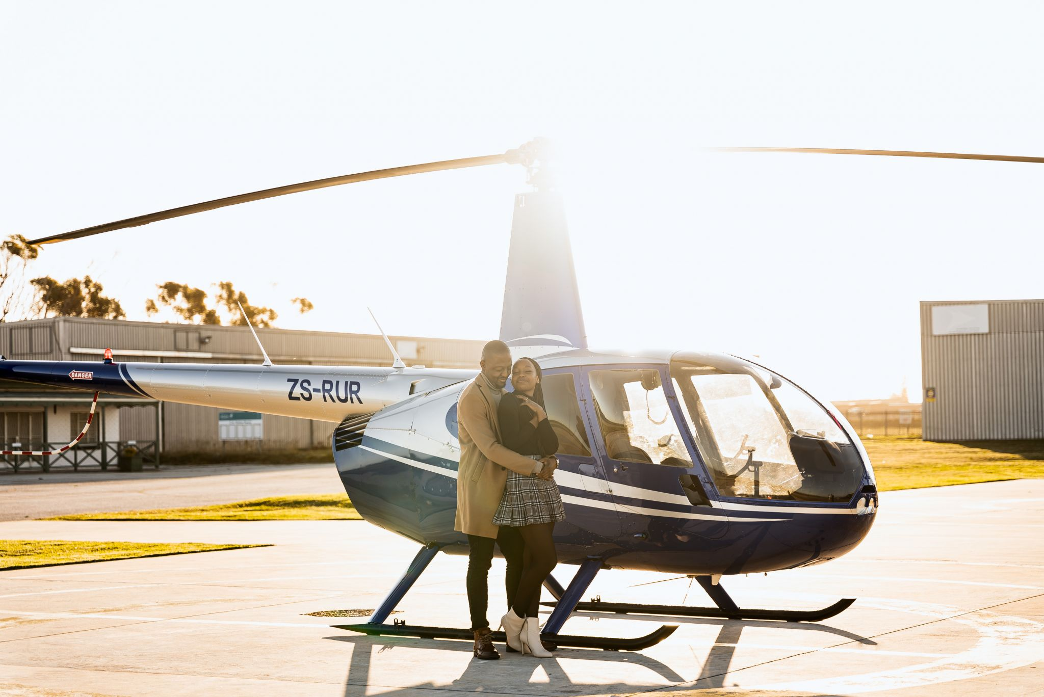 Romantic helicopter proposal